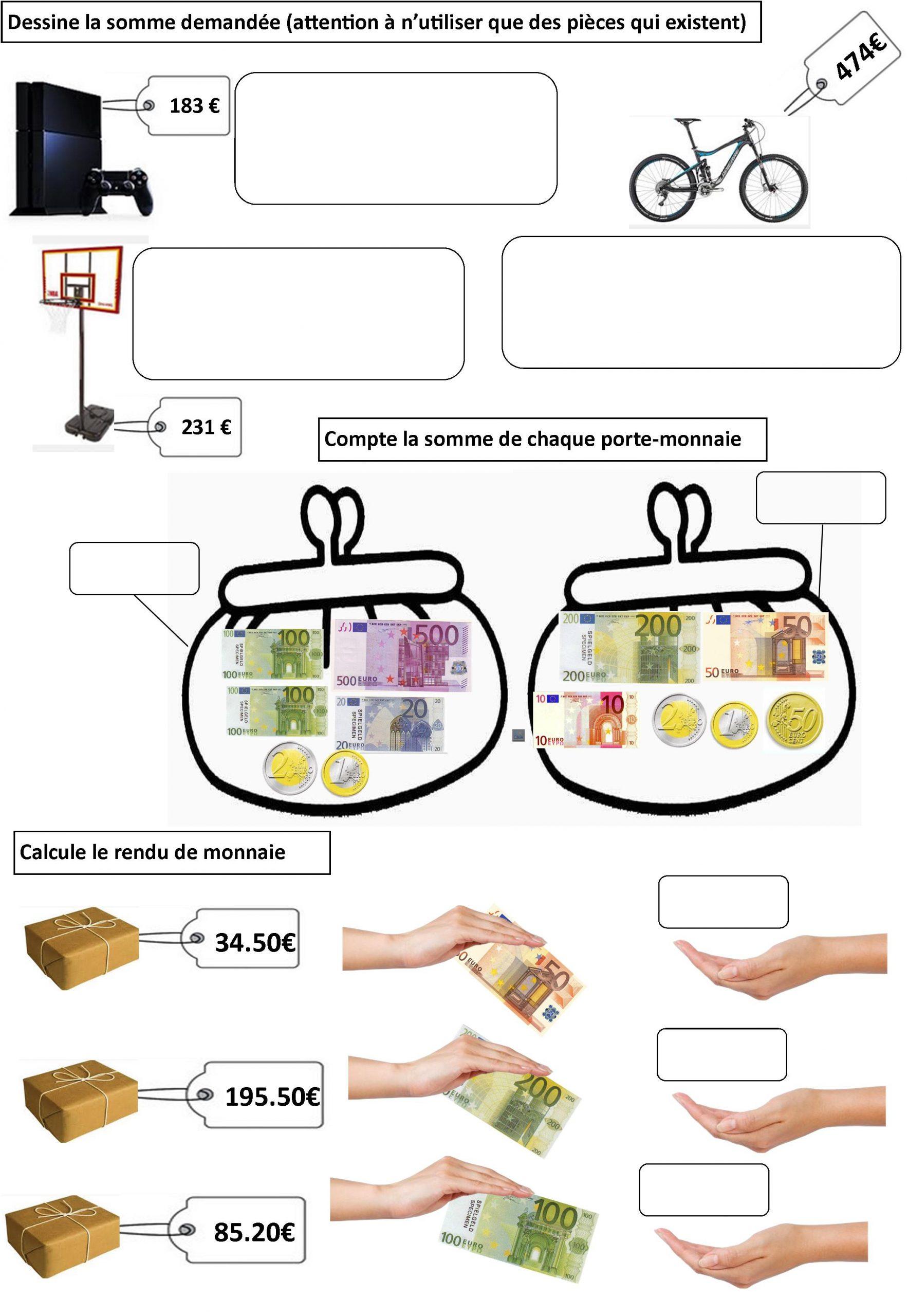 Euro Ce2 | Le Blog De Monsieur Mathieu tout Pièces Euros À Imprimer