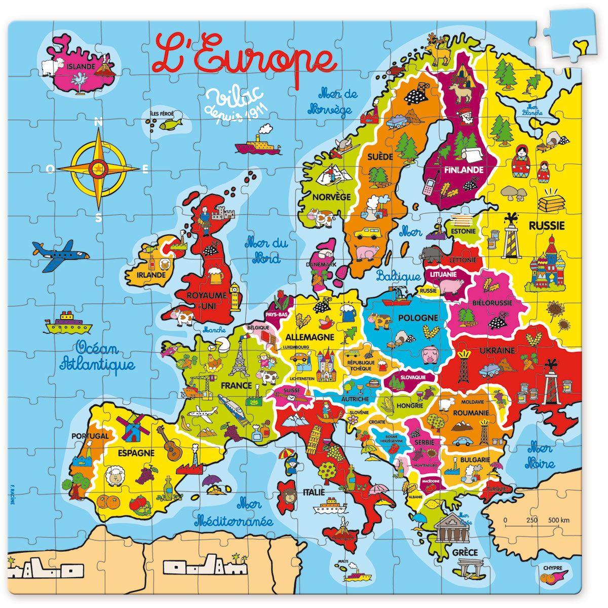 Europe À La Carte | Géographie Enfants, Carte Europe, Géographie avec Carte Europe Enfant