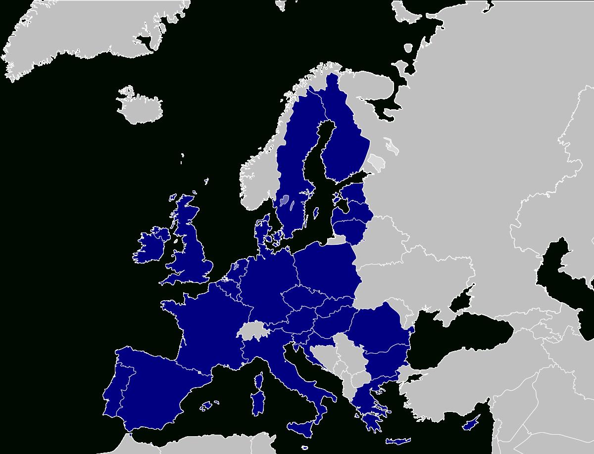 Europe Des Vingt-Huit — Wikipédia dedans Carte De L Europe À Imprimer