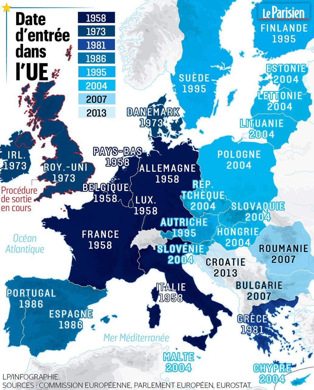 Européennes 2019 : Date, Liste Unique Tout Comprendre Au serapportantà Carte Des Pays De L Union Européenne
