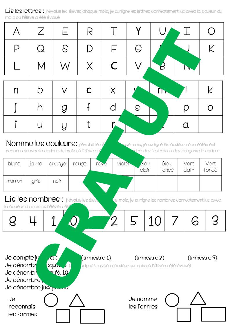Evaluations Ms - Ecriture, Lecture, Mathématiques Moyenne concernant Tangram Moyenne Section