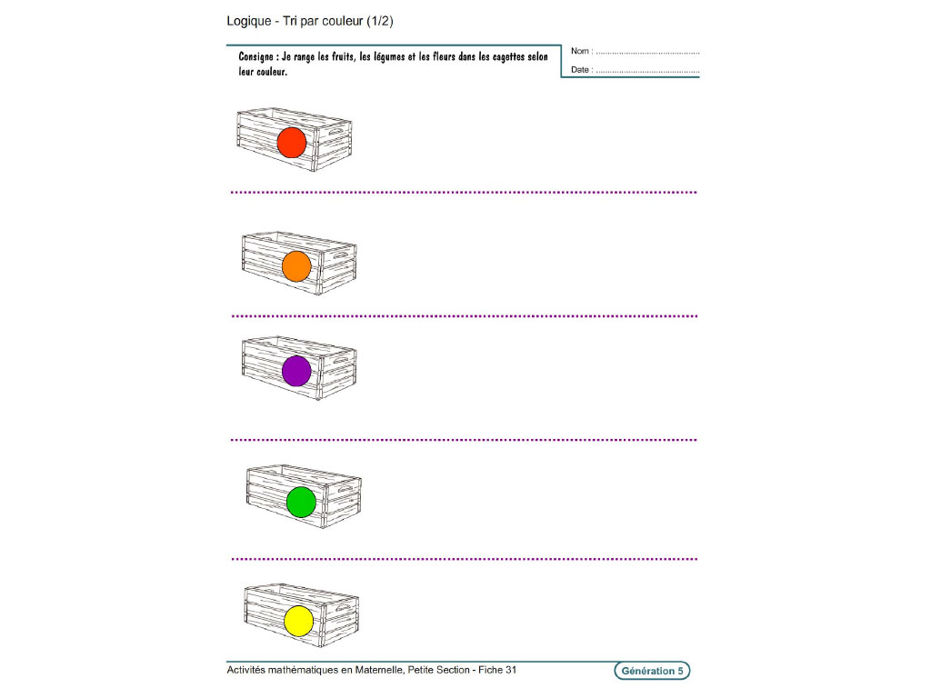 Evolu Fiches - Activités Mathématiques En Petite Section pour Exercice Pour Maternelle Petite Section