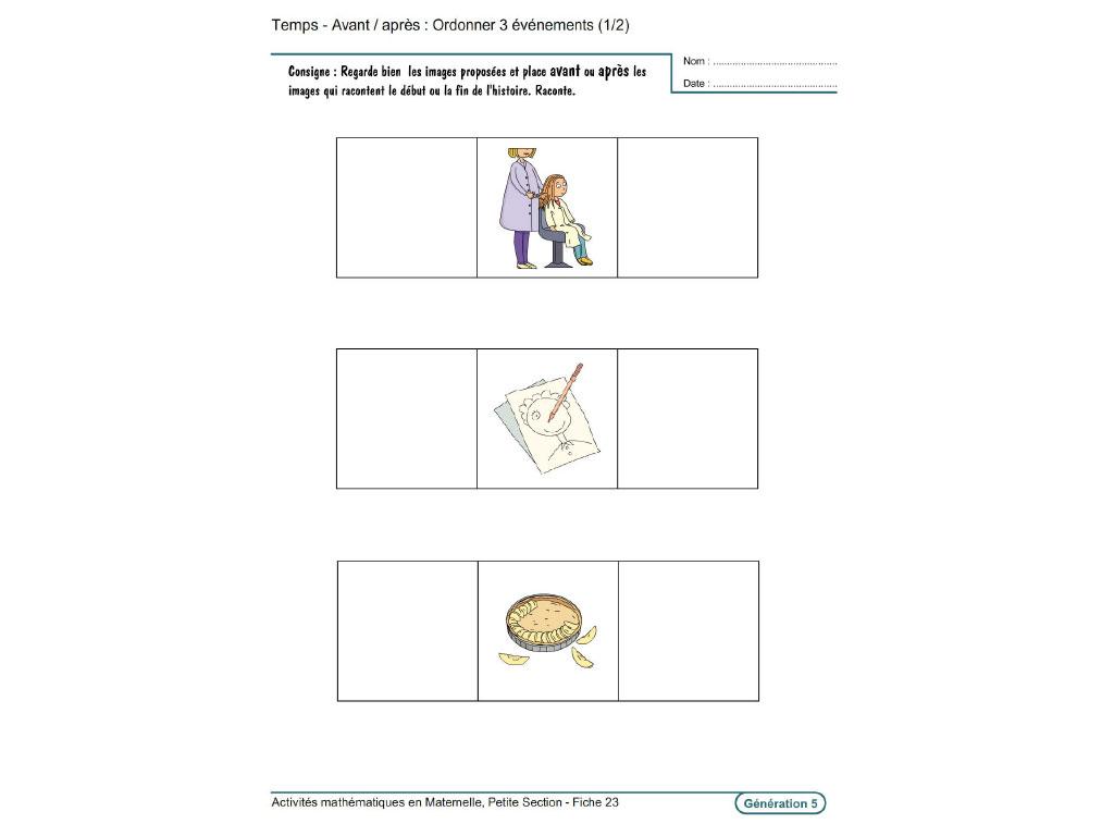 Evolu Fiches - Activités Mathématiques En Petite Section pour Fiche Petite Section À Imprimer