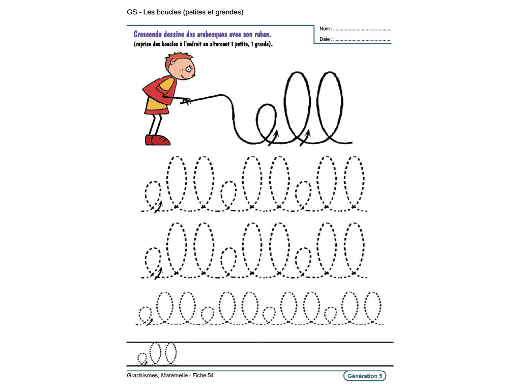Evolu Fiches - Graphismes En Maternelle à Exercice Grande Section En Ligne