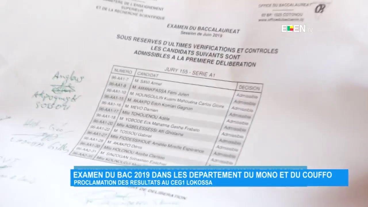 Examen Du Bac 2019 Dans Les Départements Du Mono Et Du Couffo pour Numéro Des Départements