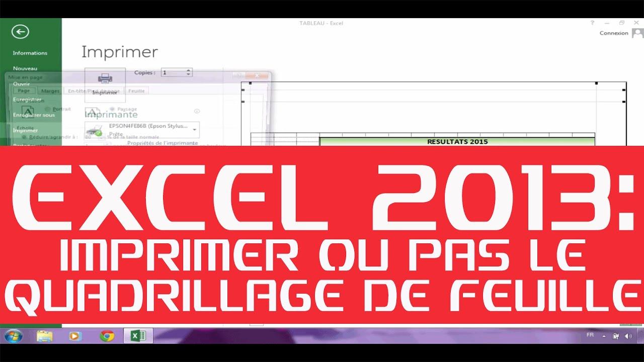 Excel 2013 : Maitriser L'impression Du Quadrillage De Vos Documents -  Urgent !!!!! avec Quadrillage À Imprimer