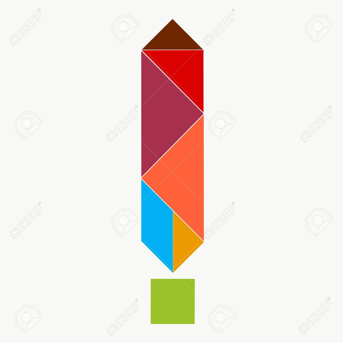Exclamation Point From Pieces Of Tangram Puzzle intérieur Pièces Tangram