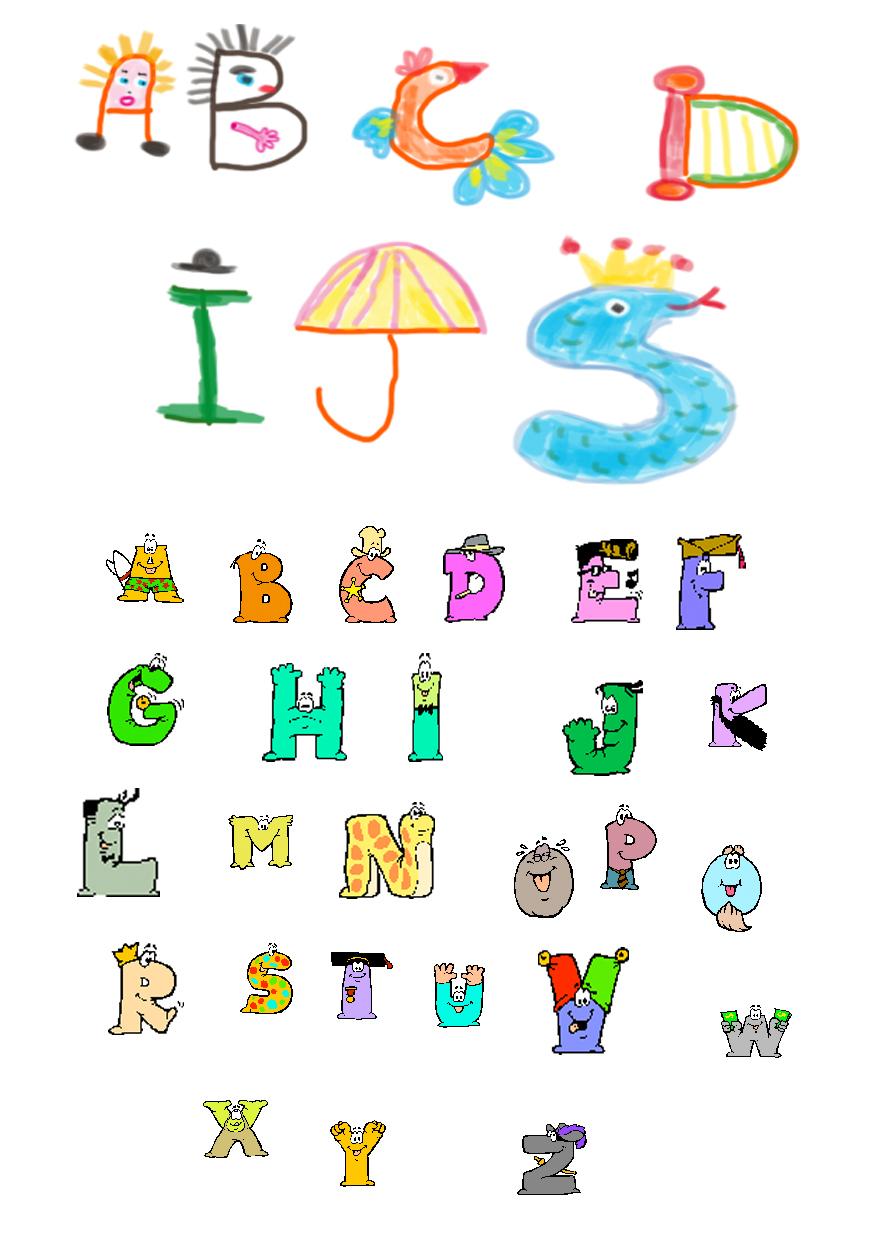 Exemple De Transformation De Lettres De L'alphabet - Tête À pour Modèle D Alphabet