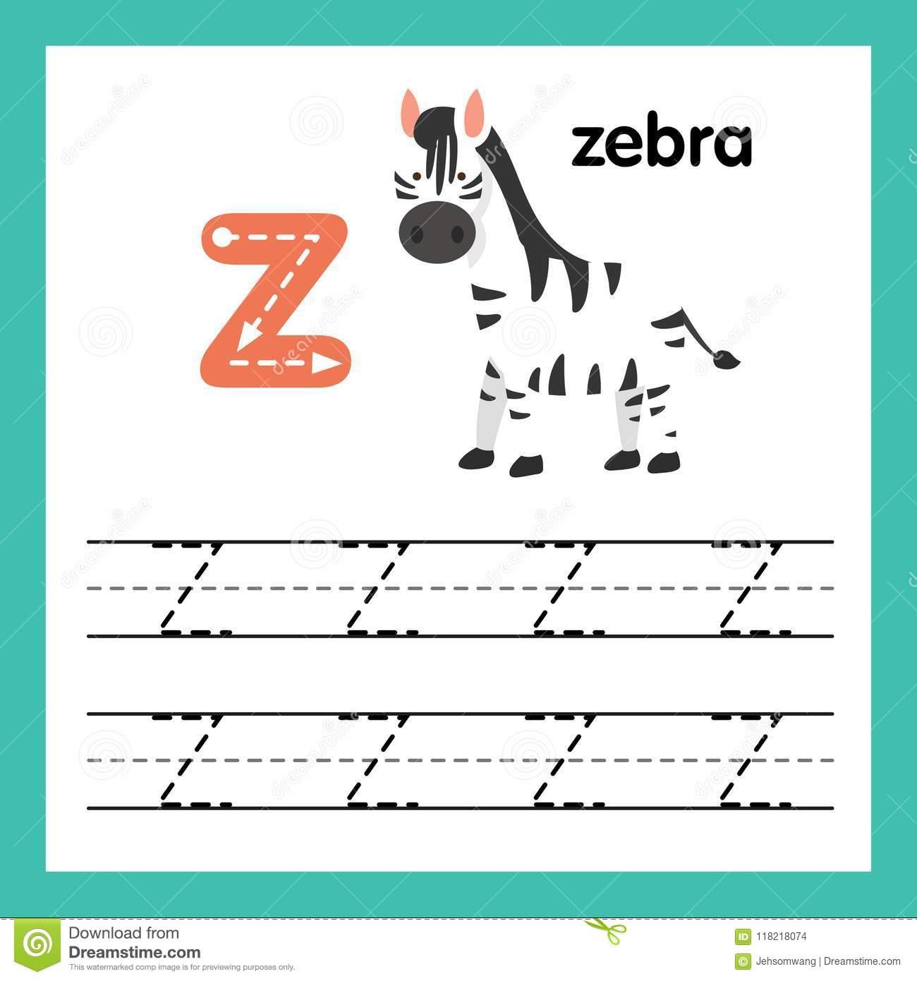 Exercice De L'alphabet Z Avec Le Vocabulaire De Bande pour Exercice Pour Apprendre L Alphabet En Maternelle