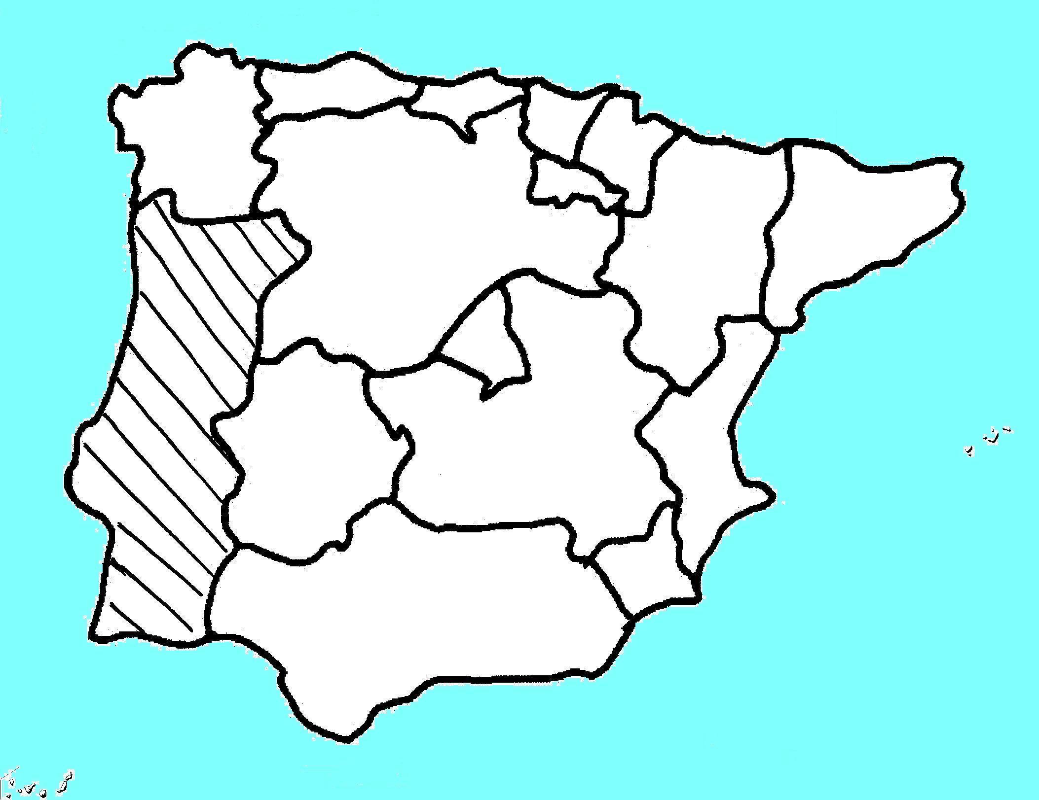 Exercice De Localisation: Communautés Autonomes avec Carte Des Régions À Compléter