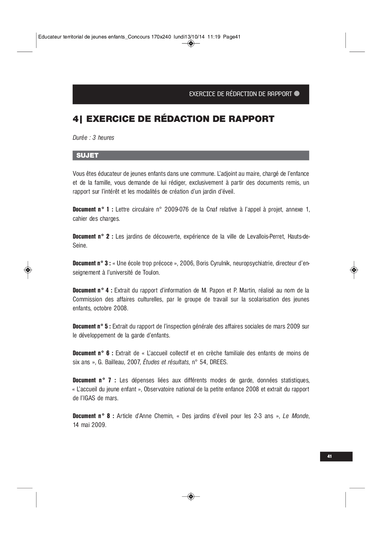 Exercice De Rédaction De Rapport - Docsity à Exercice Pour Enfant De 4 Ans