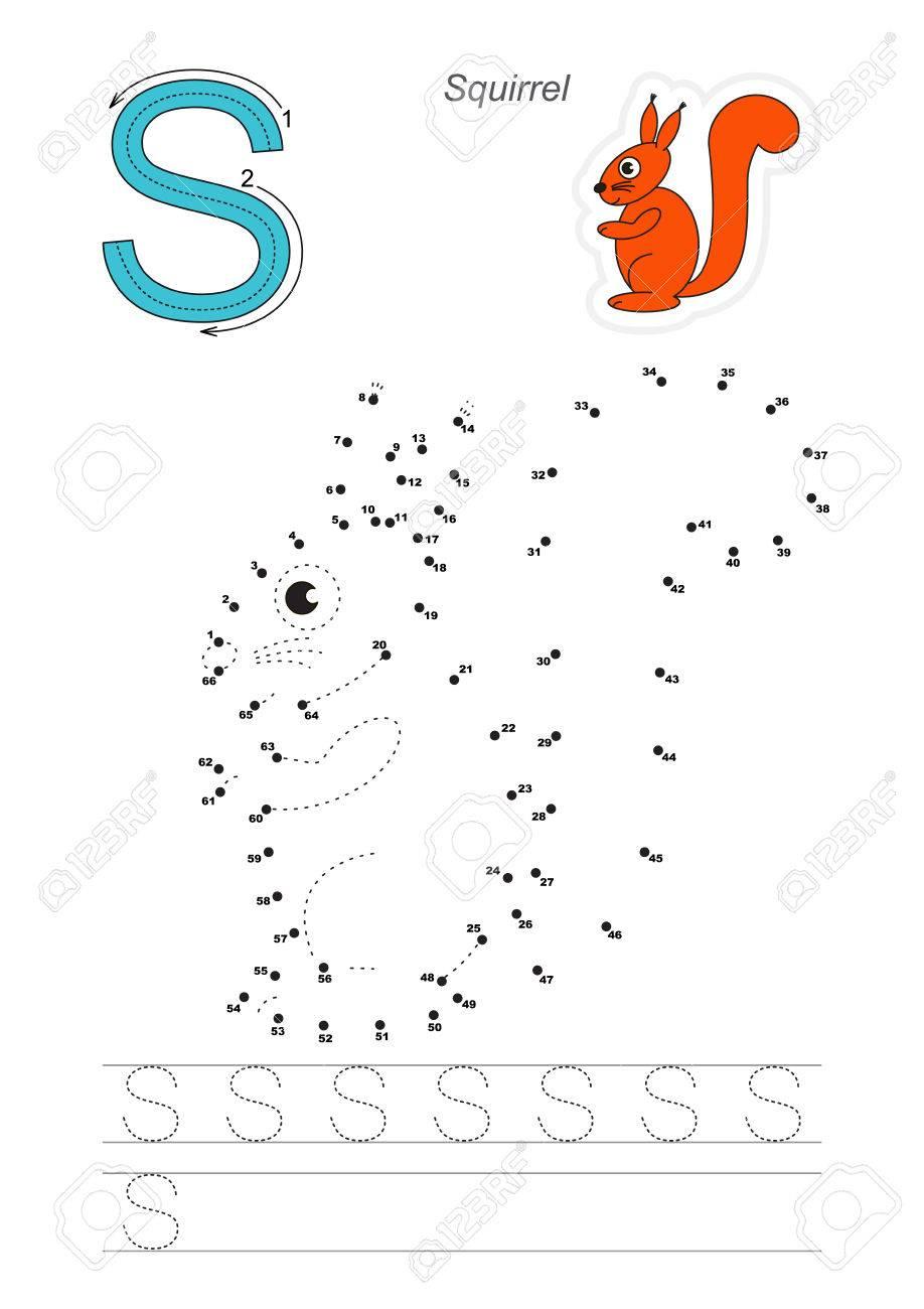 Exercice De Vecteur Pour L'alphabet Avec Des Jeux Éducatifs Pour Apprendre  L'écriture, Avec Un Niveau De Jeu Facile Pour Les Enfants D'âge concernant Jeux Pour Apprendre L Alphabet
