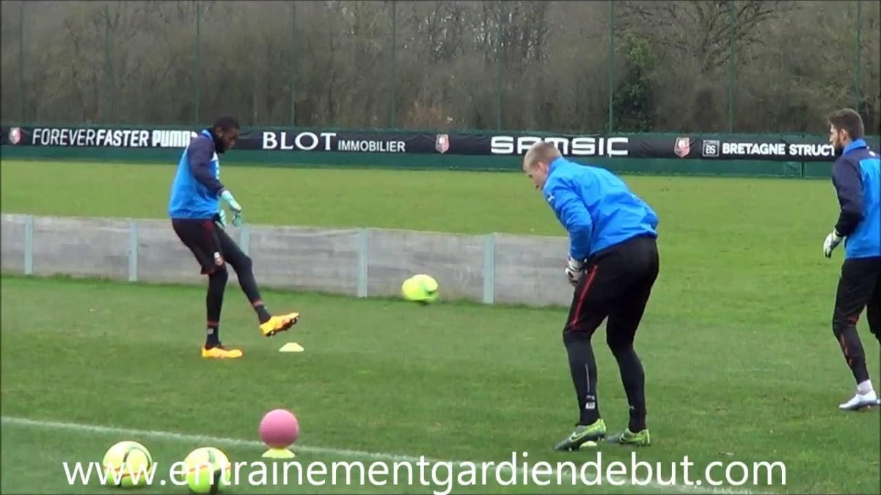Exercice Gardien De But Echauffement Prise De Balle + Jeu Au Pied Training  Goalkeeper serapportantà Jeux De Gardien De Foot