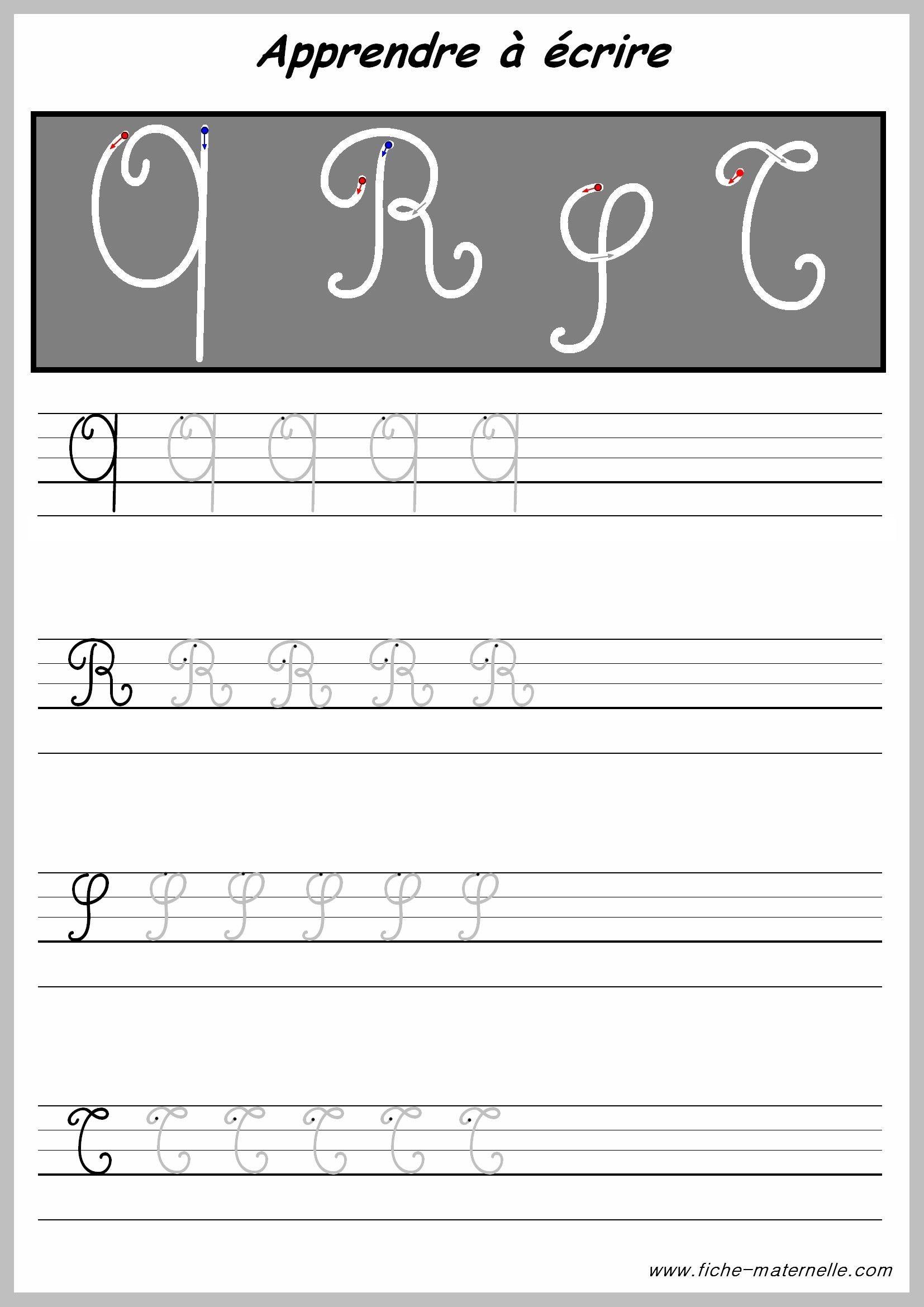 Exercices Pour Écrire Les Lettres Majuscules | Les Lettres intérieur Apprendre A Ecrire L Alphabet