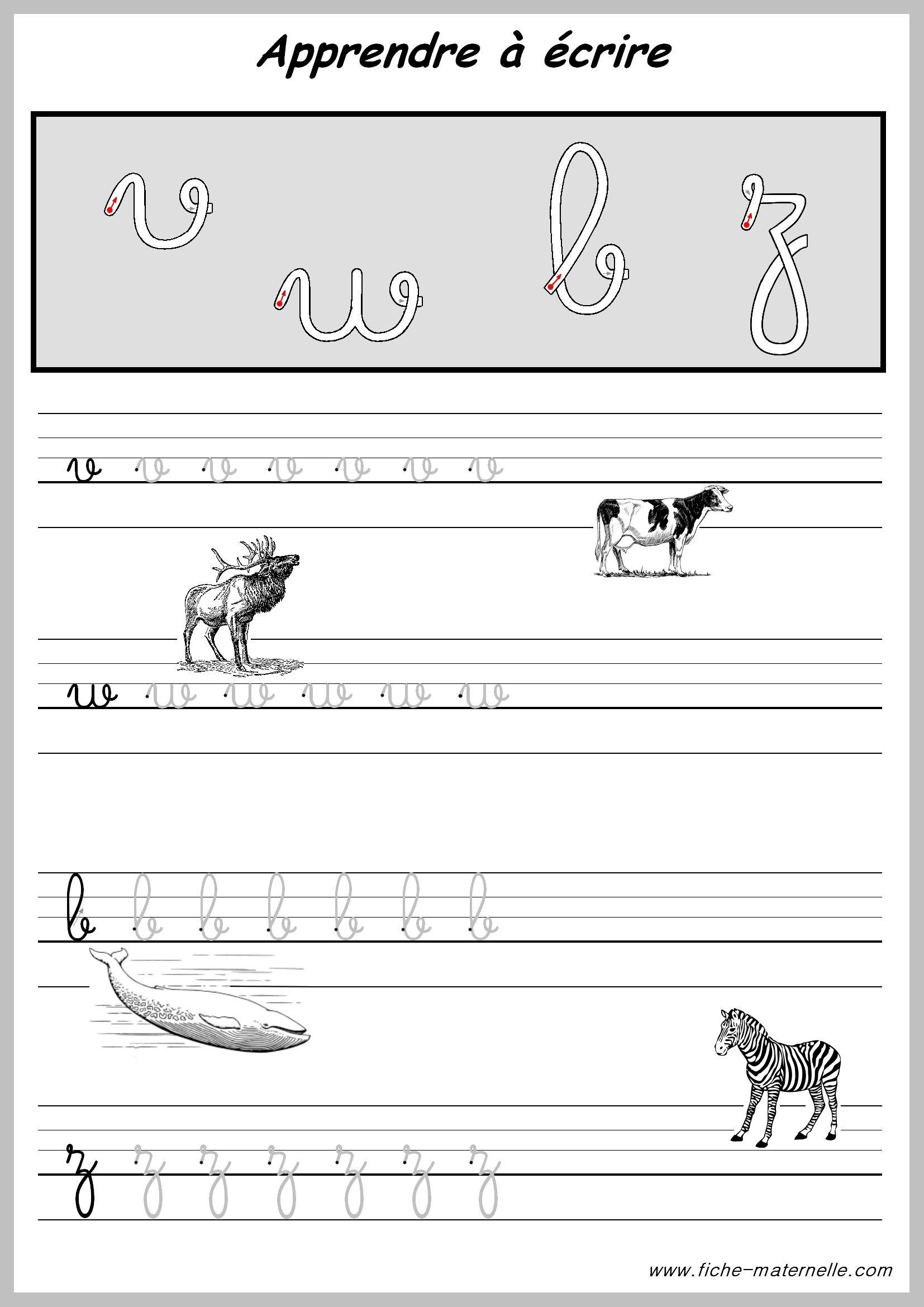 Exercices Pratiques Pour Apprendre A Ecrire. | Apprendre À avec Exercice Pour Apprendre L Alphabet En Maternelle