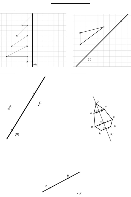 Exercices Sur La Symtrie Axiale Exercice ? Exercices Sur La à Symétrie Quadrillage