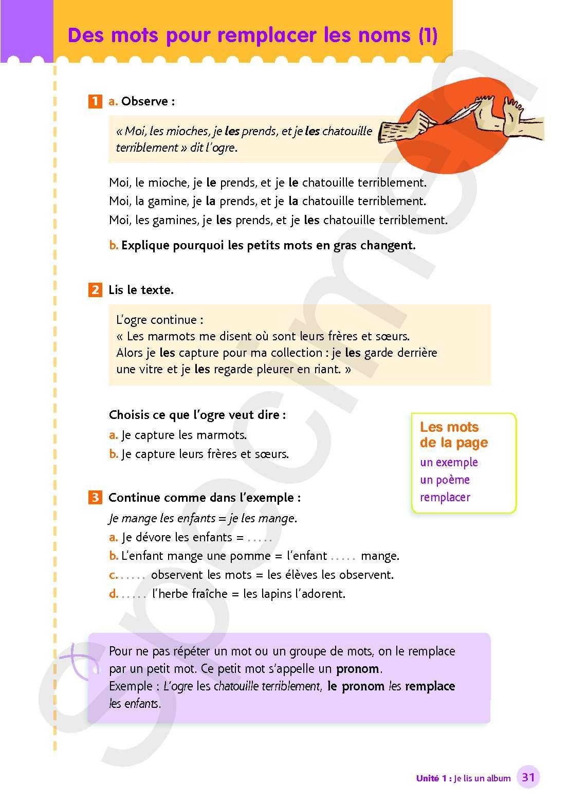 """Extrait De """" Littéo Ce1 """" - Calameo Downloader encequiconcerne Mot Pour Enfant"""