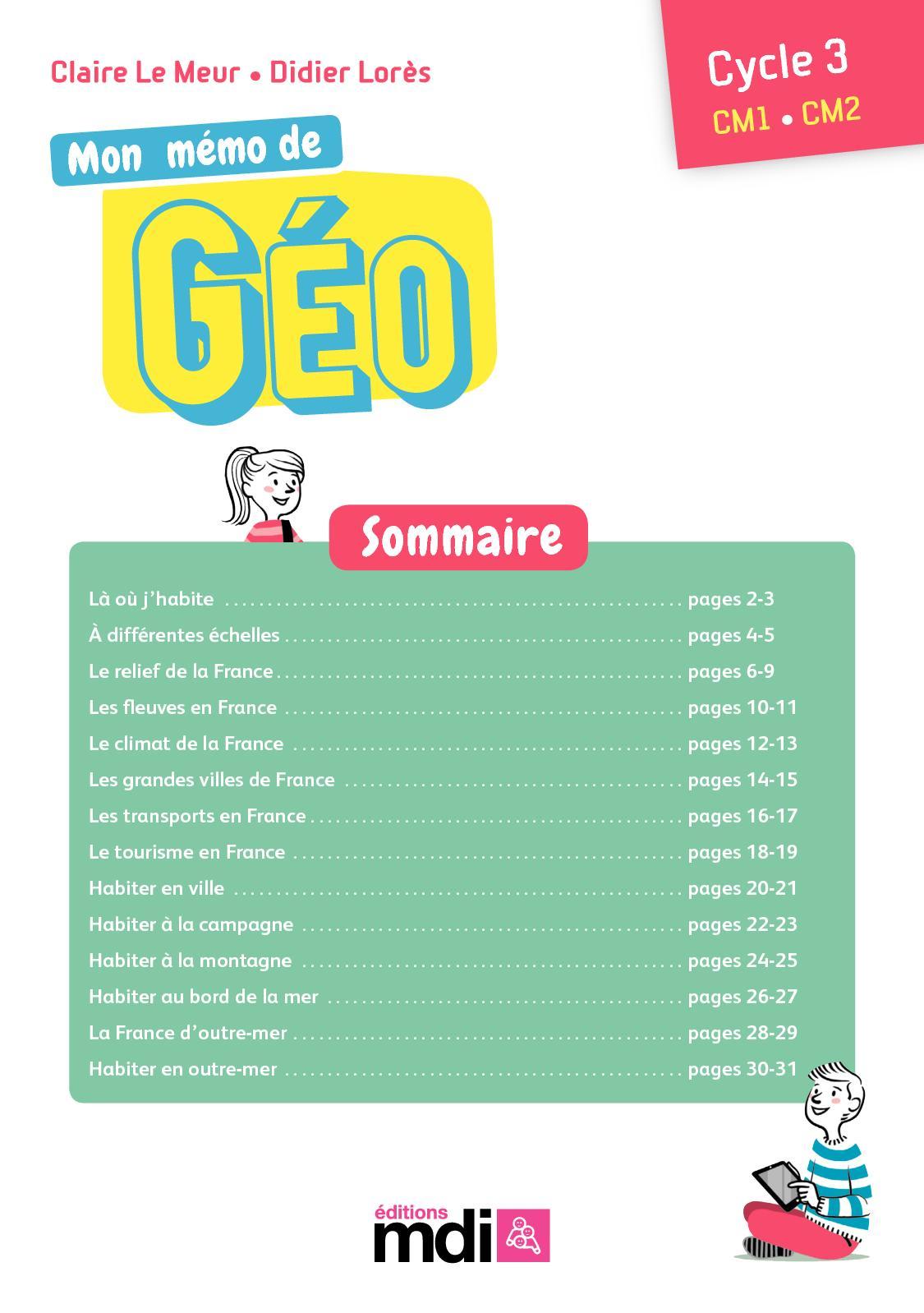 Extrait De Mon Mémo De Géo Mdi - Calameo Downloader tout Les Fleuves En France Cycle 3