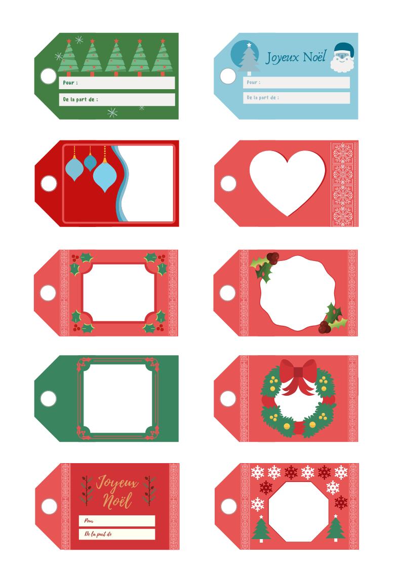 🎄étiquettes Pour Les Cadeaux De Noël À Imprimer avec Etiquette Cadeau Noel A Imprimer Gratuitement