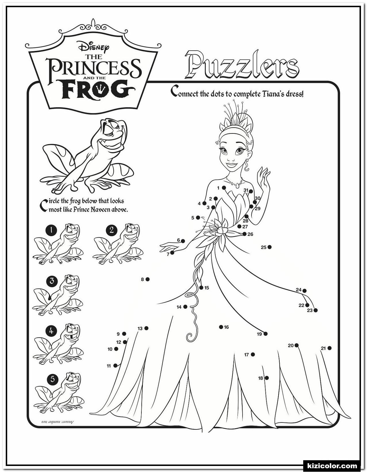 🎨 Activite Casse-Tete Grenouille Princesse Disney - Des encequiconcerne Coloriage À Imprimer Chateau De Princesse