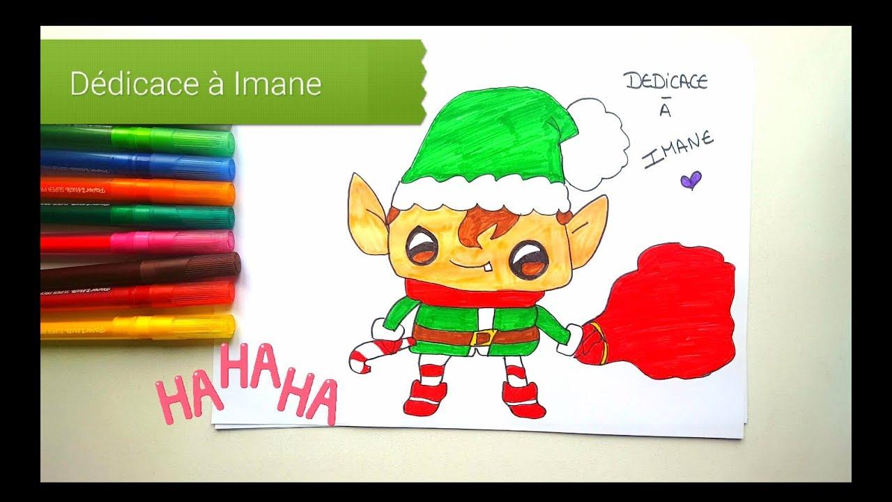 🐛dessin Kawaii : Comment Dessiner Un Lutin De Noël destiné Dessiner Un Lutin