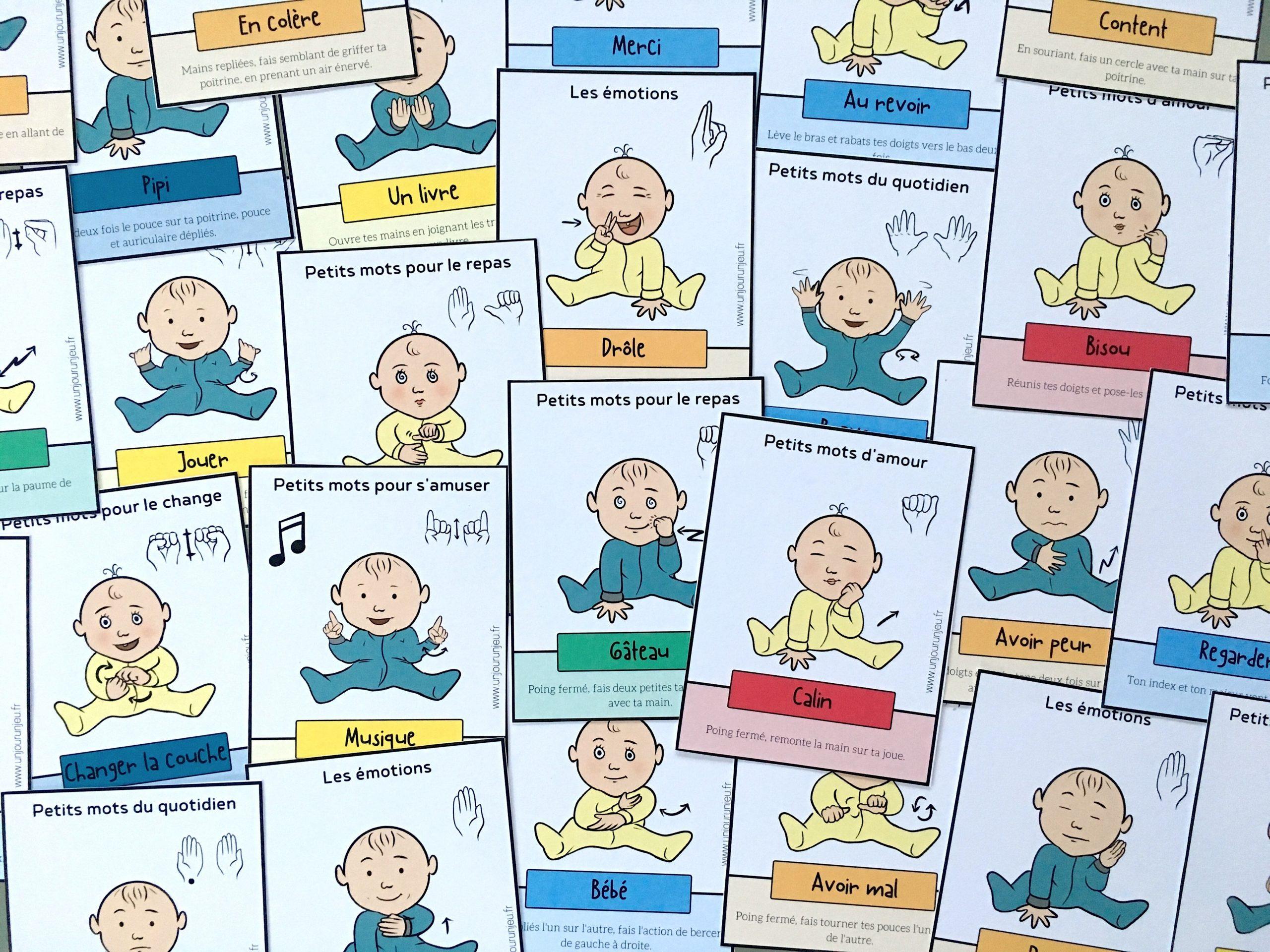 👶❤ Signer Avec Son Bébé : 48 Cartes À Télécharger destiné Telecharger Jeux Bebe Gratuit