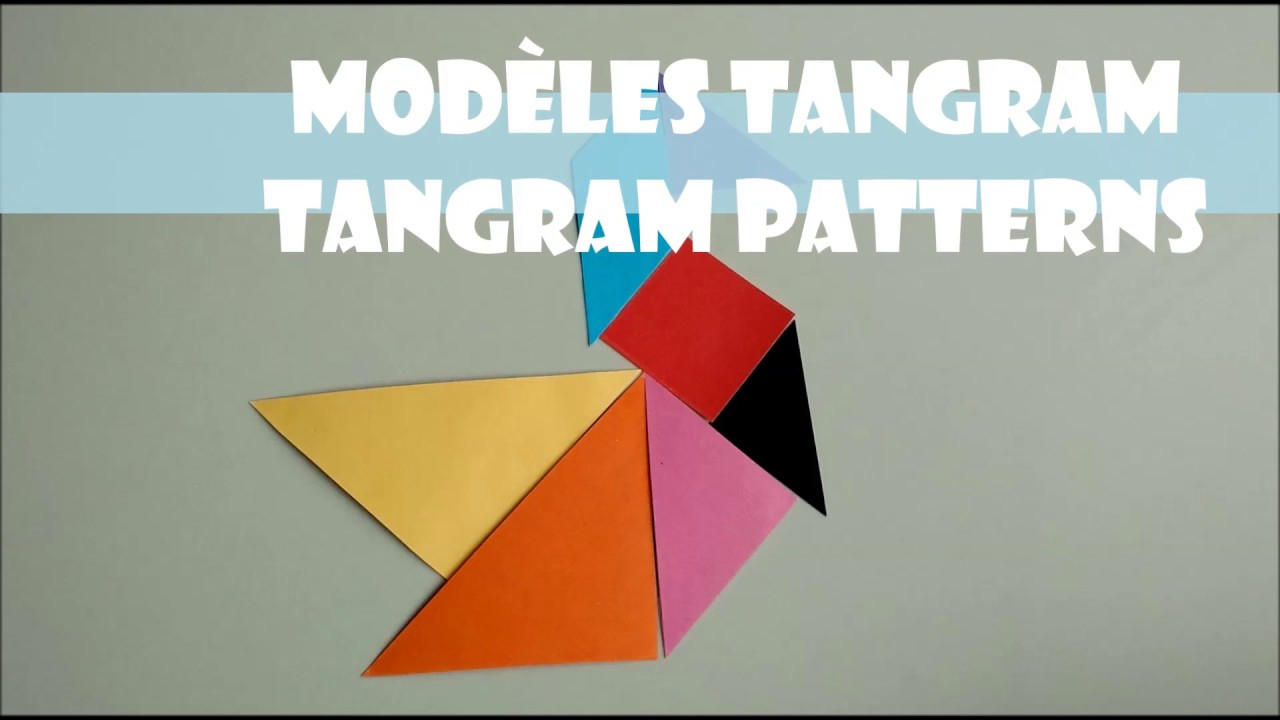 🔷 Modèles De Tangram | Tangram Patterns encequiconcerne Tangram Modèles Et Solutions