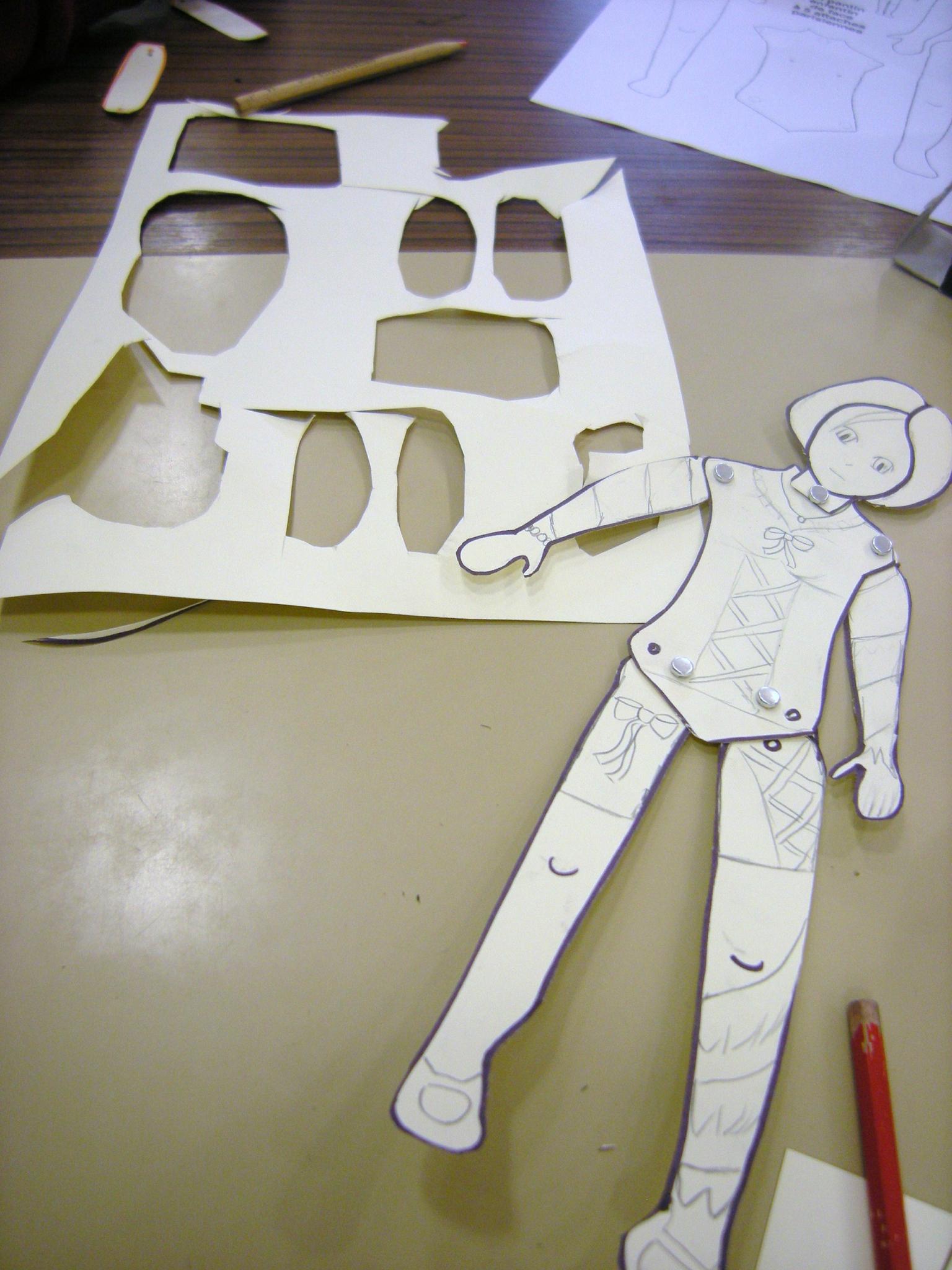 Fabrication De Pantins Articules En Carton Par Les Enfants tout Pantin Articulé Patron
