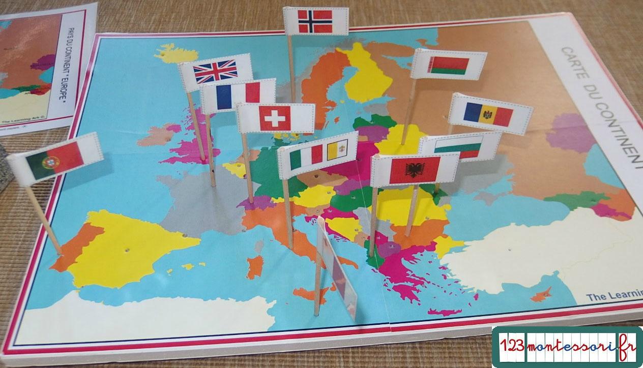 Fabrication Du Jeu Des Drapeaux - 123Montessori, Le Blog à Drapeaux Européens À Imprimer