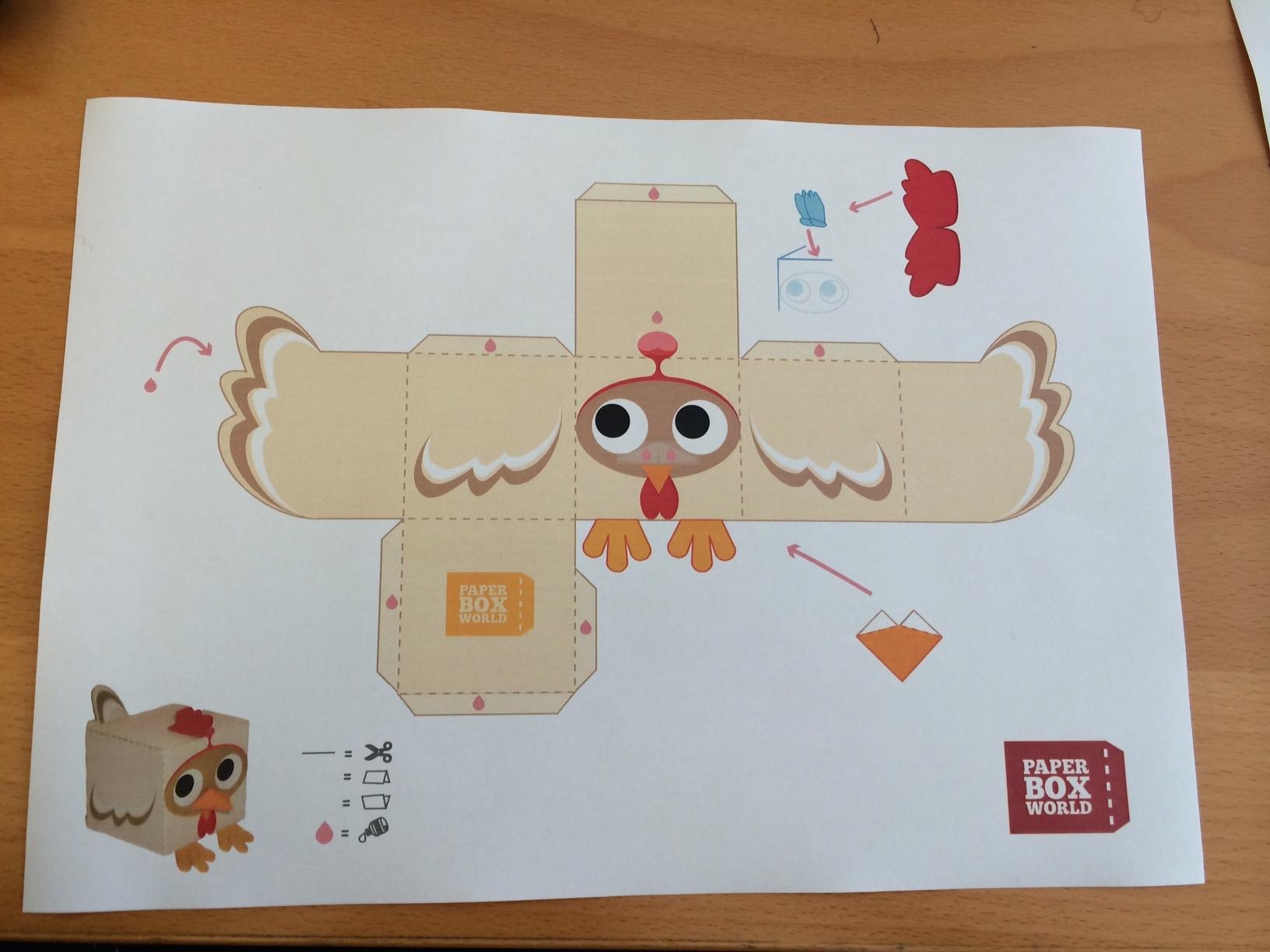 Fabrique Ta Poule De Pâques En Papertoy - La Poule | La Poule avec Paper Toy A Imprimer