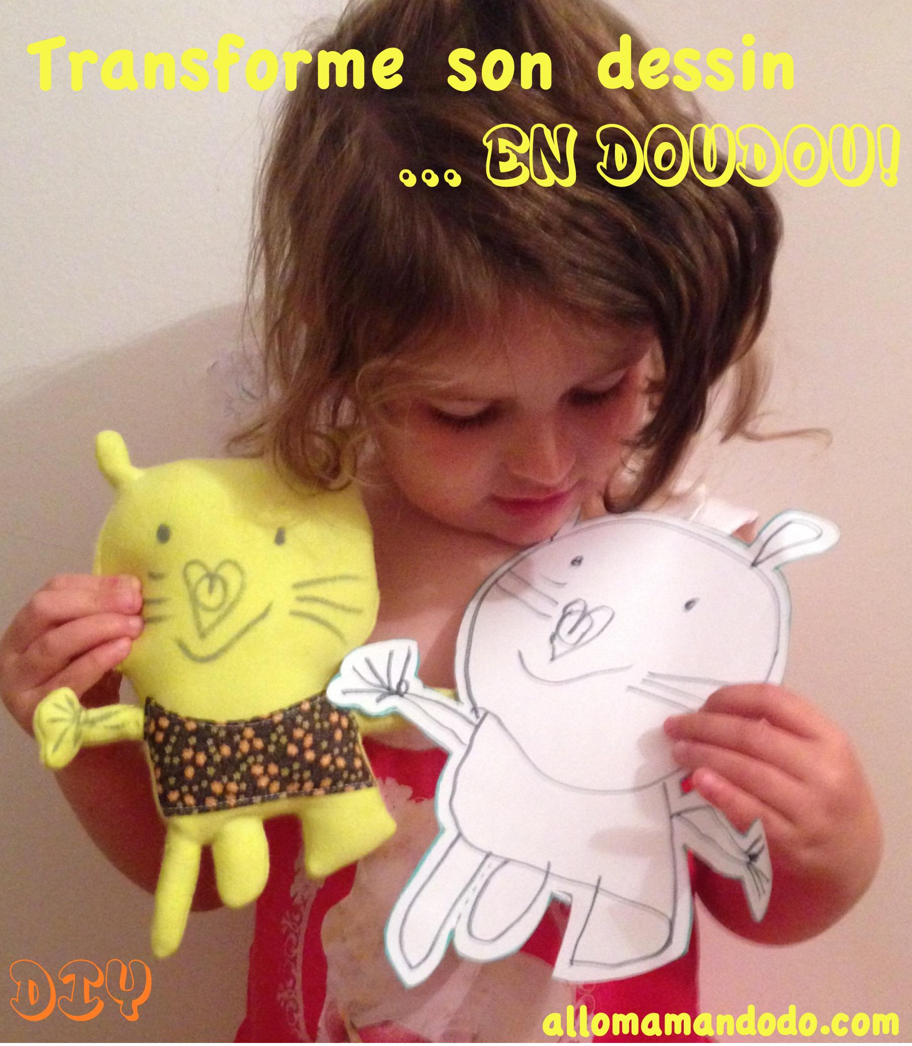 Fabrique Un Doudou À Partir D'un Dessin D'enfant: Diy Et dedans Dessin De Doudou
