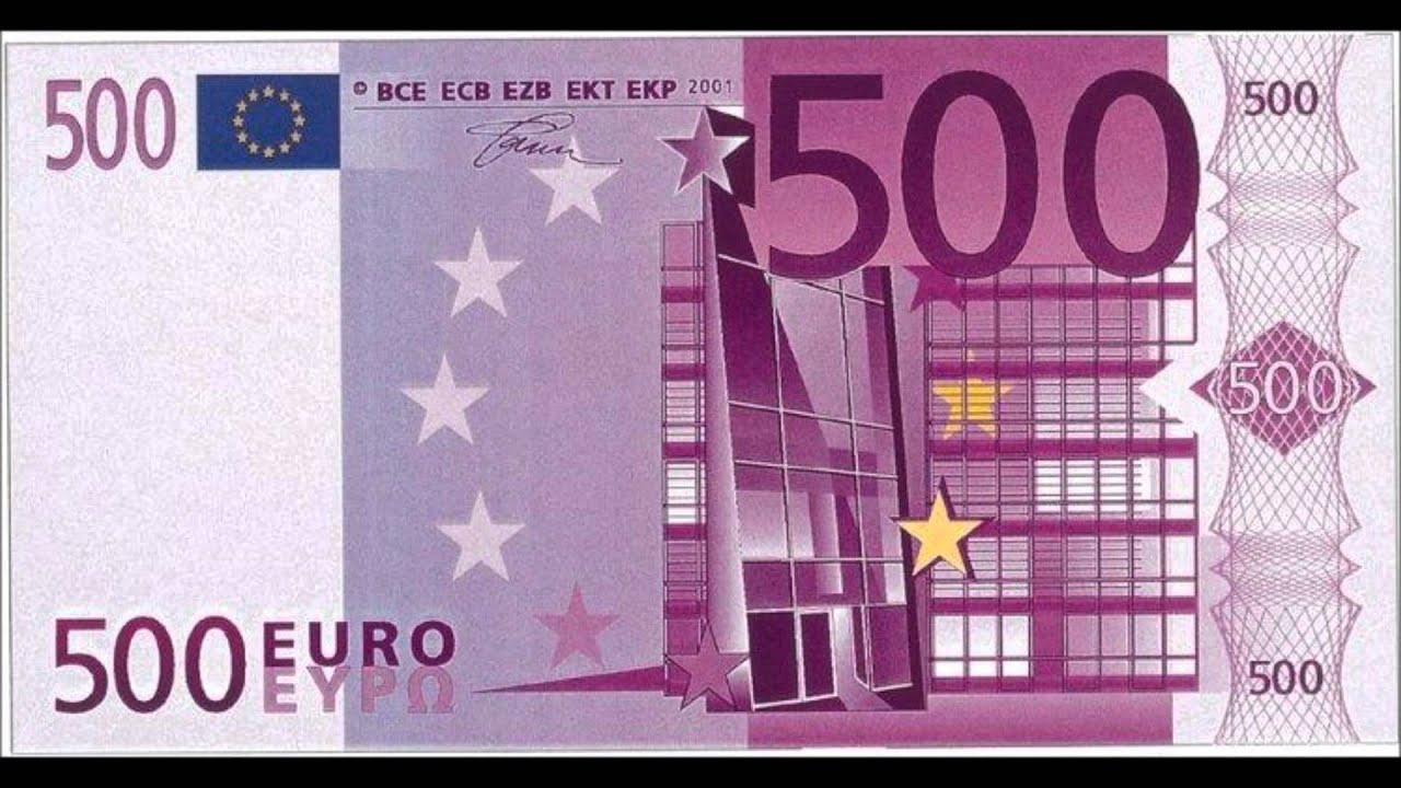 Fabriquer Facilement Des Faux Billets De 500€ | Hd | - intérieur Billet A Imprimer