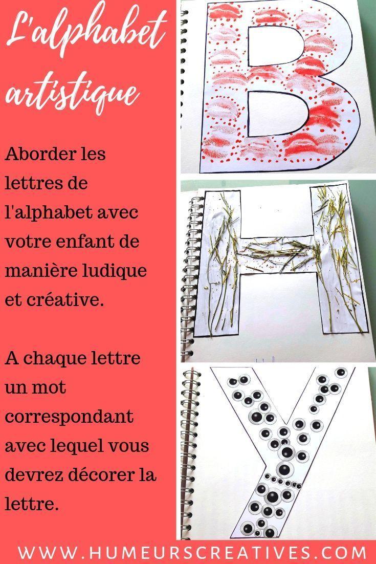 Fabriquer Un Alphabet Artistique Avec Les Enfants - | Jeux dedans Jeux De Lettres Enfants