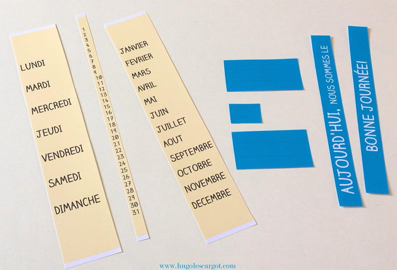 Fabriquer Un Calendrier Éphéméride À Imprimer [Video] pour Calendrier Perpétuel À Imprimer