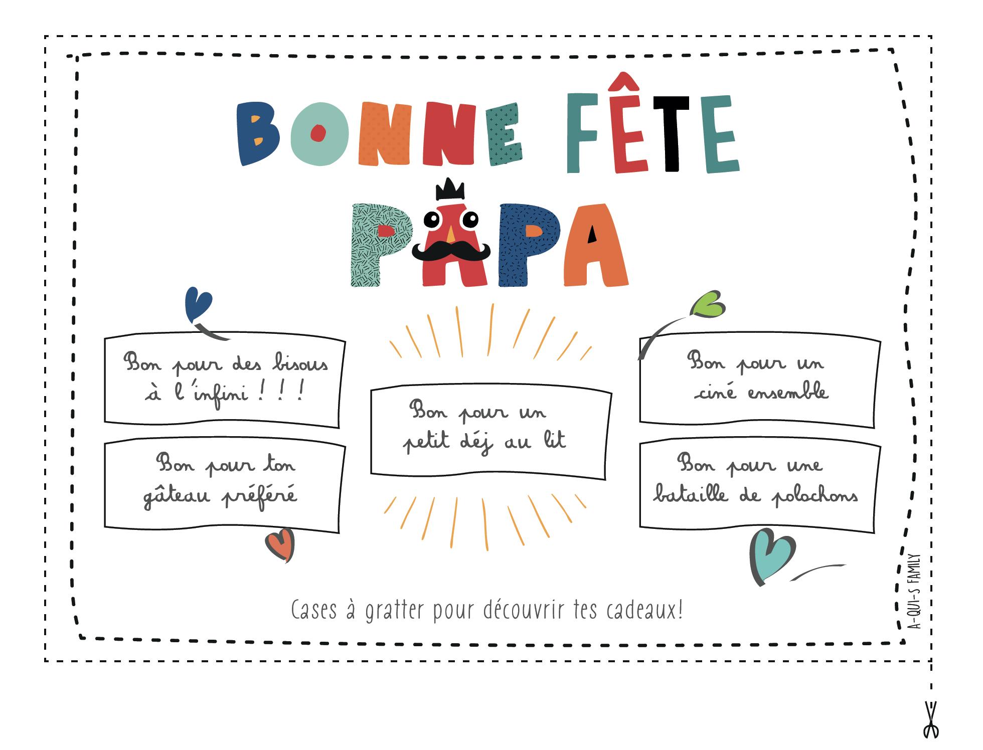 Fabriquer Une Carte À Gratter Pour La Fête Des Pères - tout Patron De Maison En Papier A Imprimer