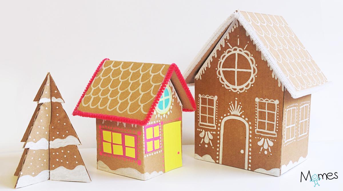 Fabriquer Une Maison De Pain D'épices En Carton - Momes avec Patron De Maison En Papier A Imprimer