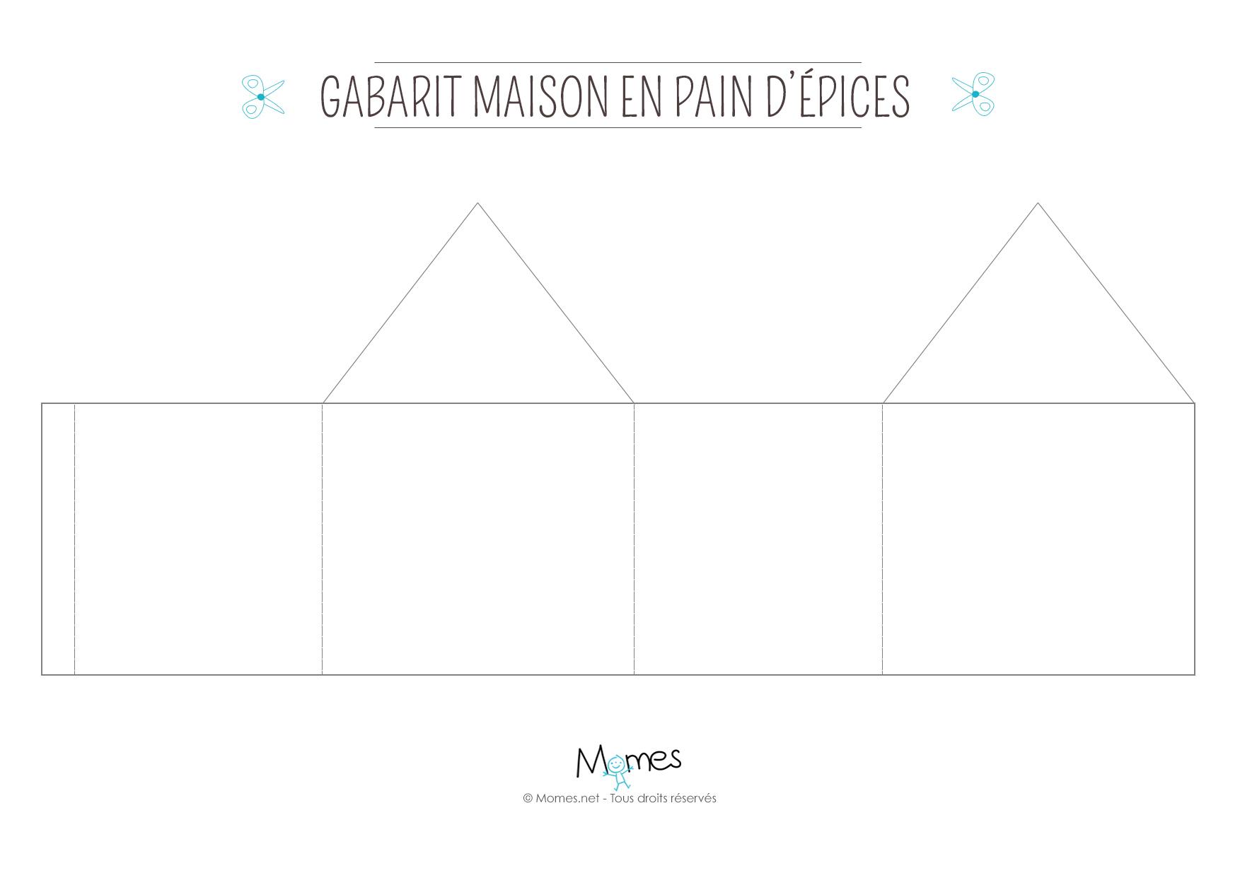 Fabriquer Une Maison De Pain D'épices En Carton - Momes destiné Patron De Maison En Papier A Imprimer