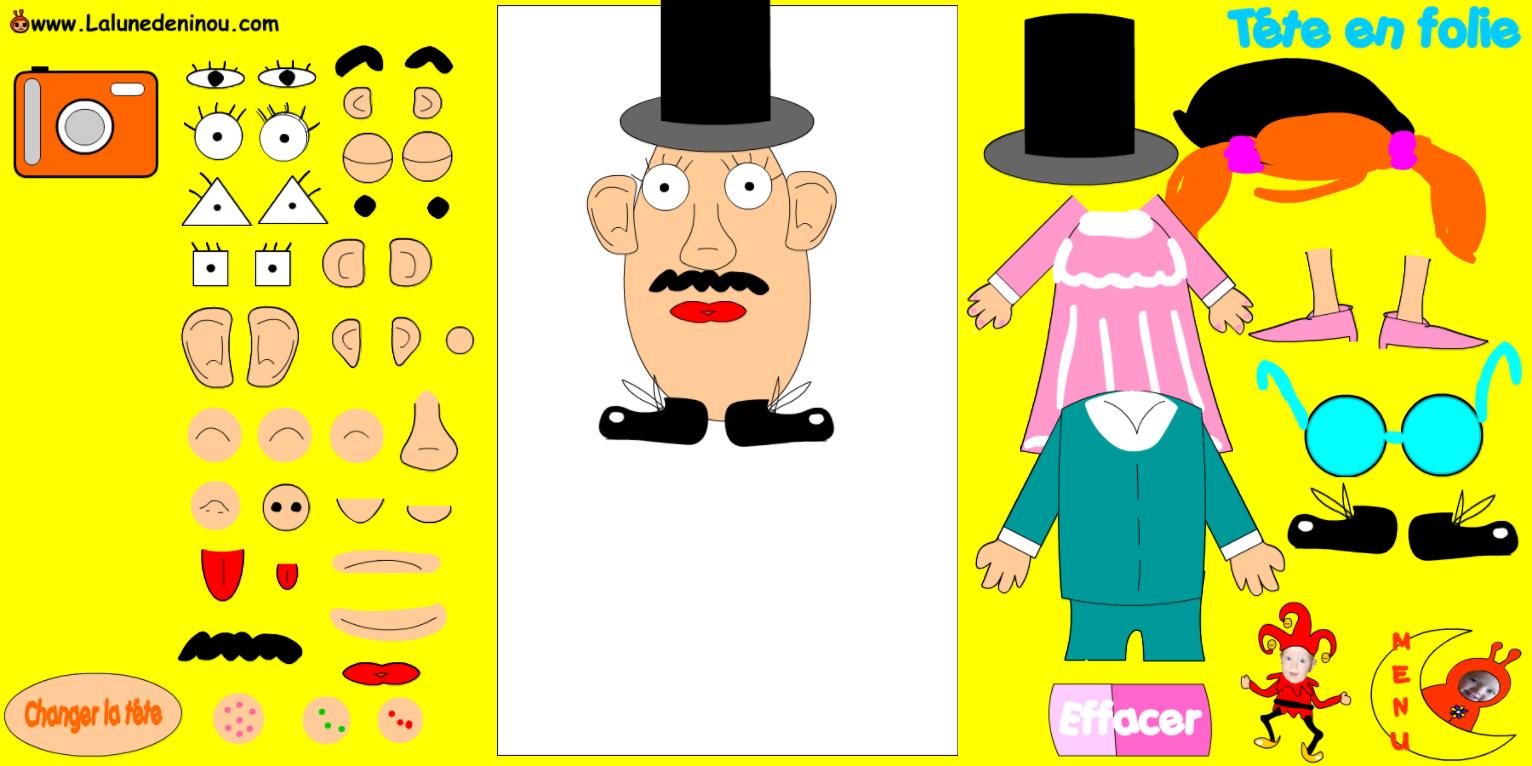 Fabriquer Une Tête De Mr Patate En Ligne Sur Lalunedeninou intérieur Coloriage Mr Patate