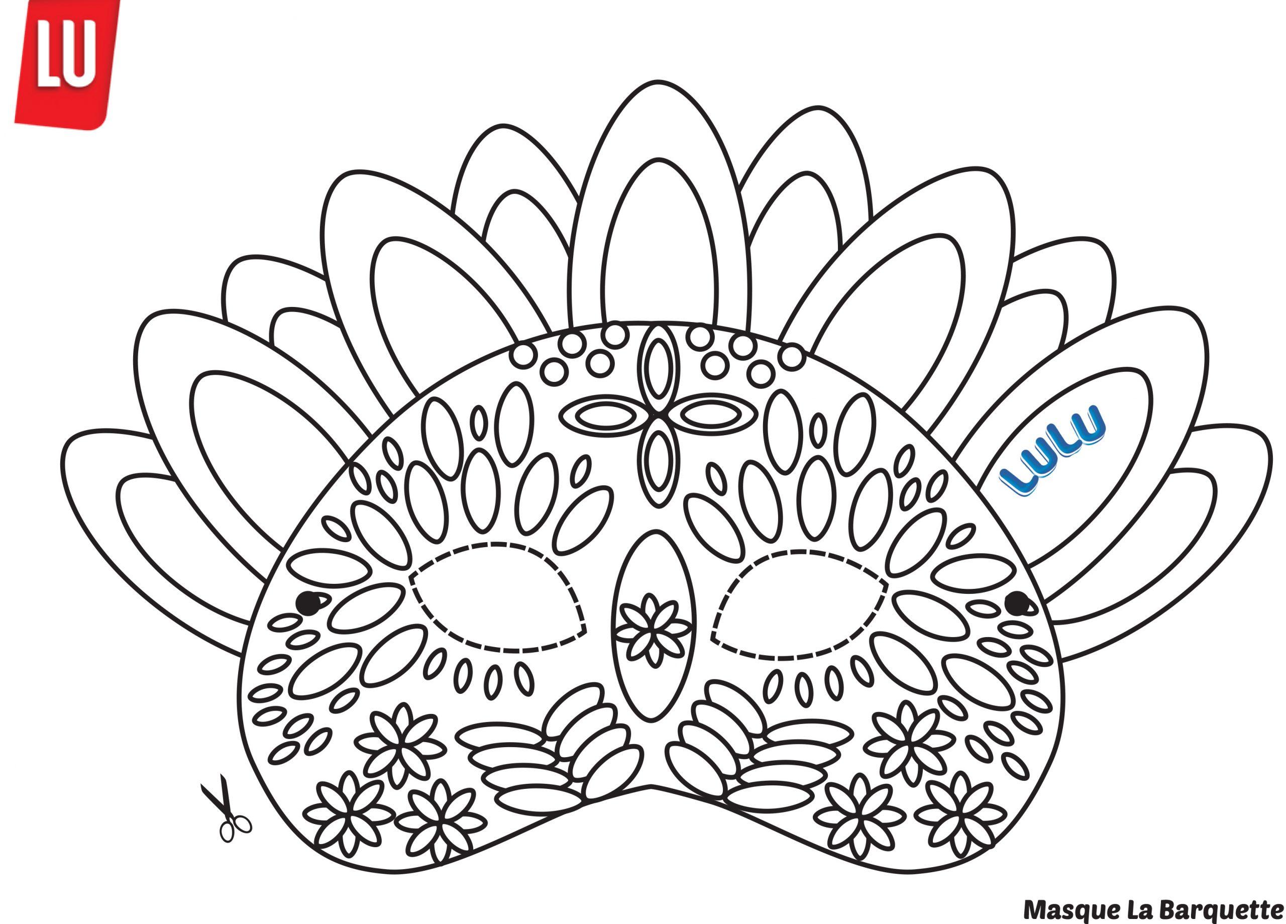 Faire Des Masques En Animaux Avec Les Gâteaux Lulu L'ourson dedans Masques Animaux À Imprimer