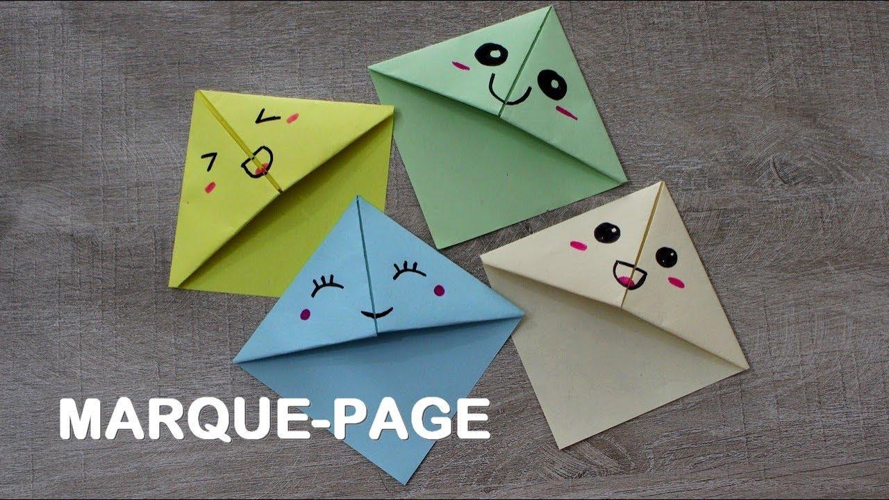 Faire Un Marque-Page Kawaii En Origami Simple Et Rapide concernant Modele De Marque Page A Imprimer