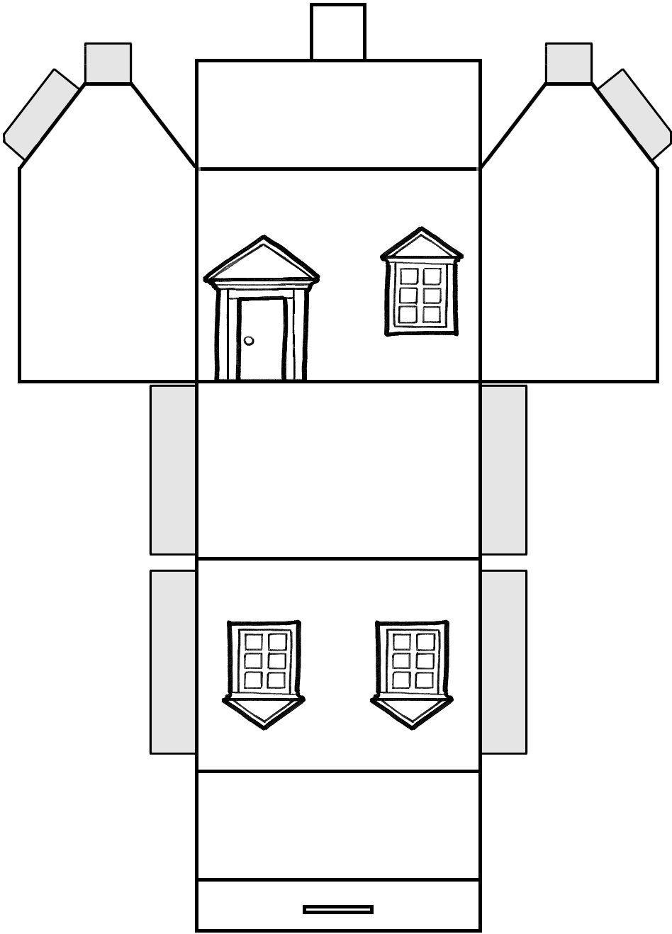Faire Un Village De Noël Je Vous Mets Quelques Plans Prêts À concernant Maison Papier A Decouper