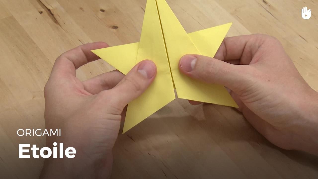 Faire Une Étoile En Papier | Origami intérieur Decoupage Papier Facile