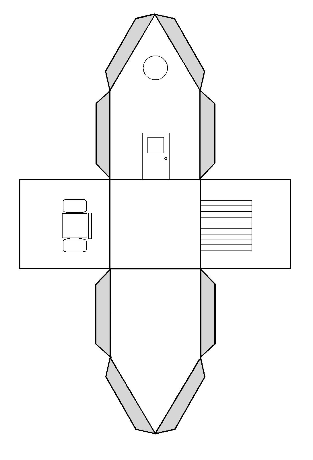 Faire Une Maison En Volume Par Pliage Et Collage | Maisons intérieur Patron De Maison En Papier A Imprimer