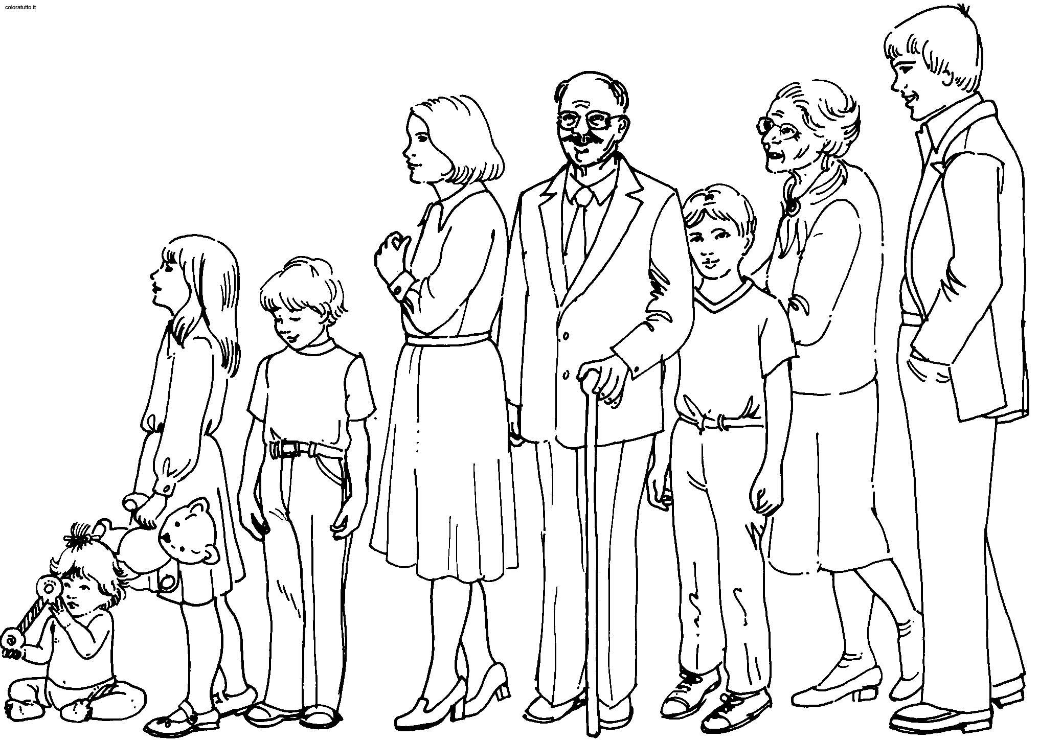 Famille #34 (Personnages) – Coloriages À Imprimer tout Personnage A Colorier