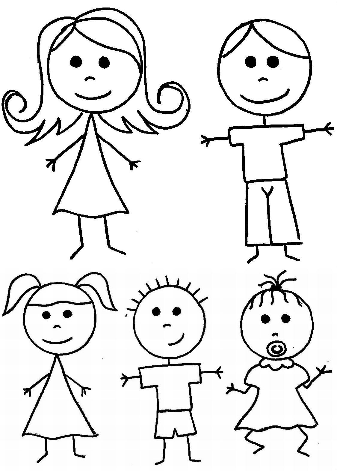 Famille #66 (Personnages) – Coloriages À Imprimer tout Personnage A Colorier