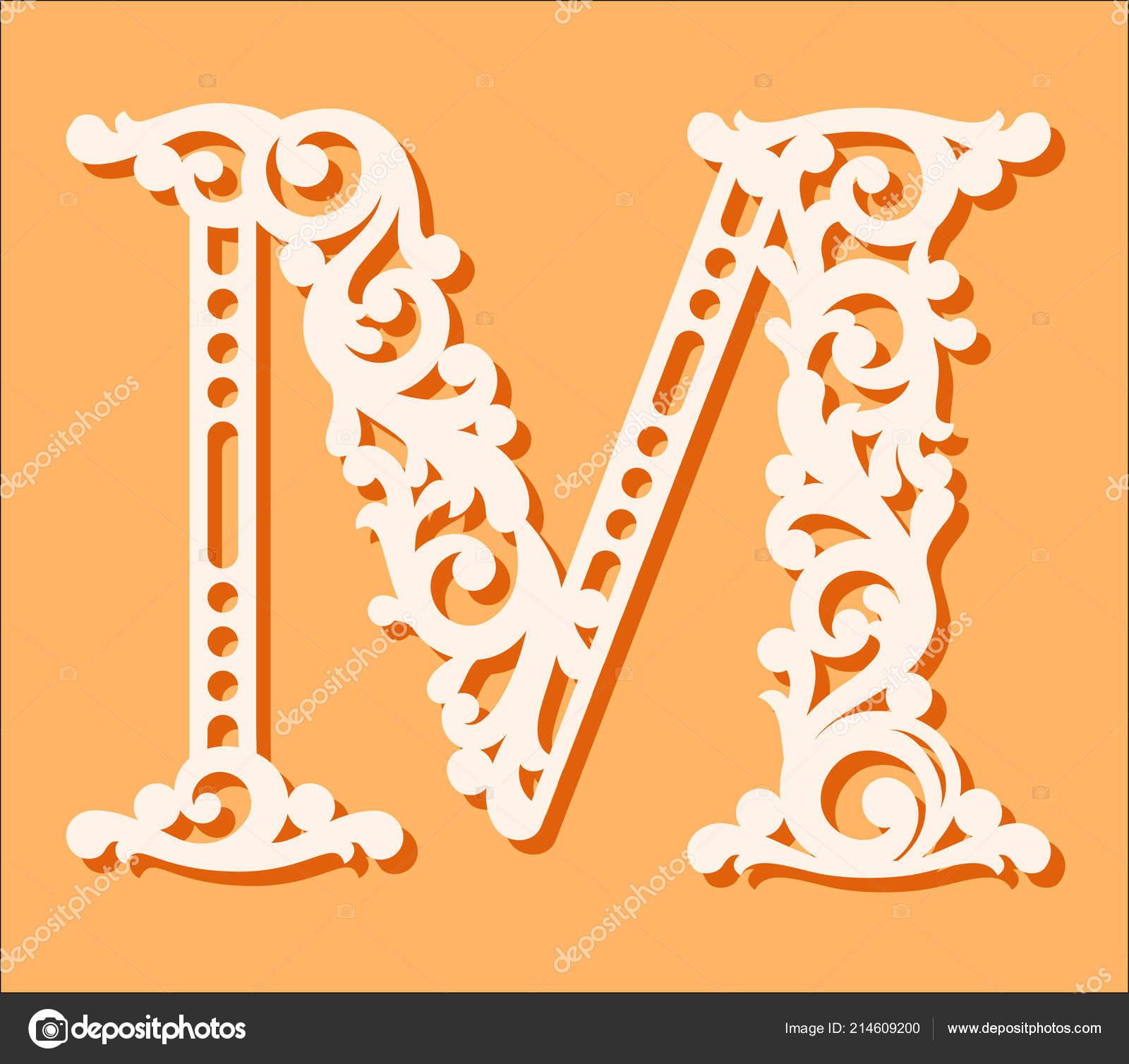 Fancy Monogram Letters | Laser Cut Template Initial Monogram à Modele De Lettre Alphabet