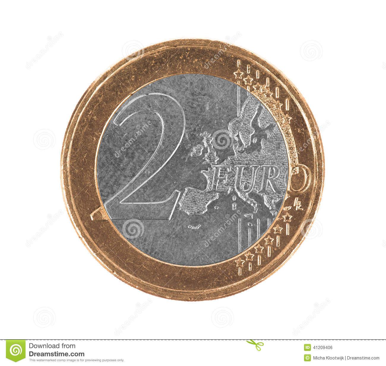 Fausse Euro Pièce De Monnaie, Euro 2 Photo Stock - Image Du pour Fausses Pieces Euros