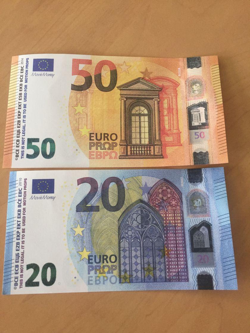 Faux Billets De 20 Et 50 Euros : Comment Les Reconnaître destiné Billet De 50 Euros À Imprimer