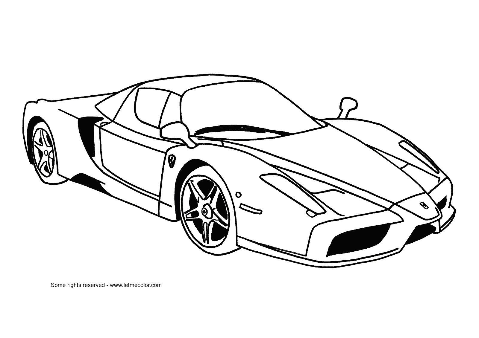 Ferrari Coloring Pages | Boyama Sayfaları, Araba, Resim concernant Ferrari A Colorier