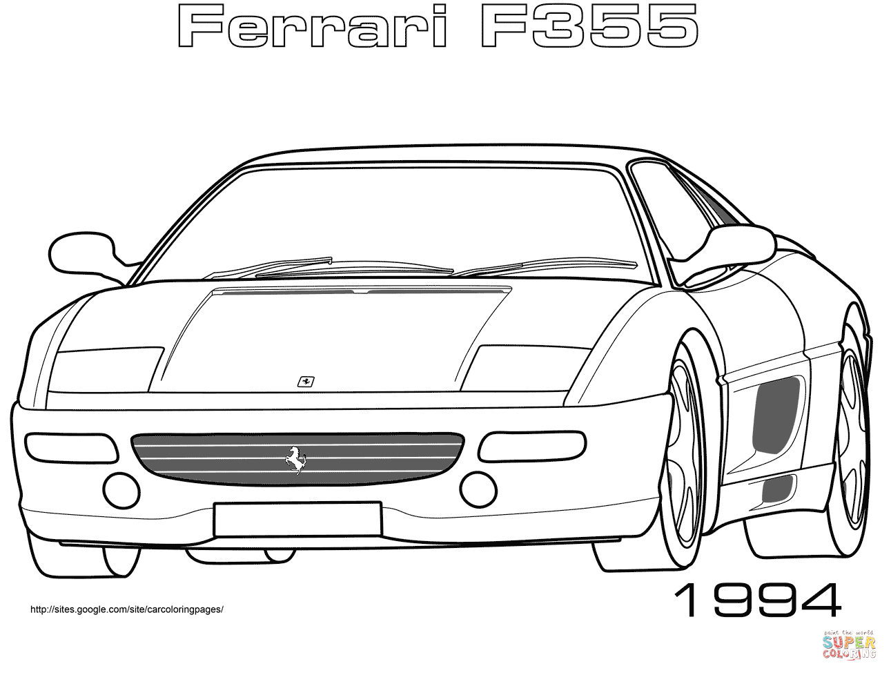 Ferrari F12 Coloring Pages 41 Best Images About Ferrari On destiné Ferrari A Colorier
